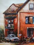 voiture au garage, peintre Romain Rakotoarimanana